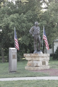Statue of John Wayme. Winterset, Iowa