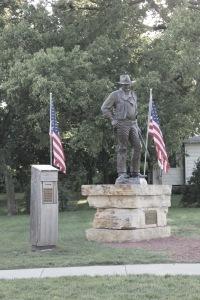 Statue of John Wayme. Winterset, Iowa