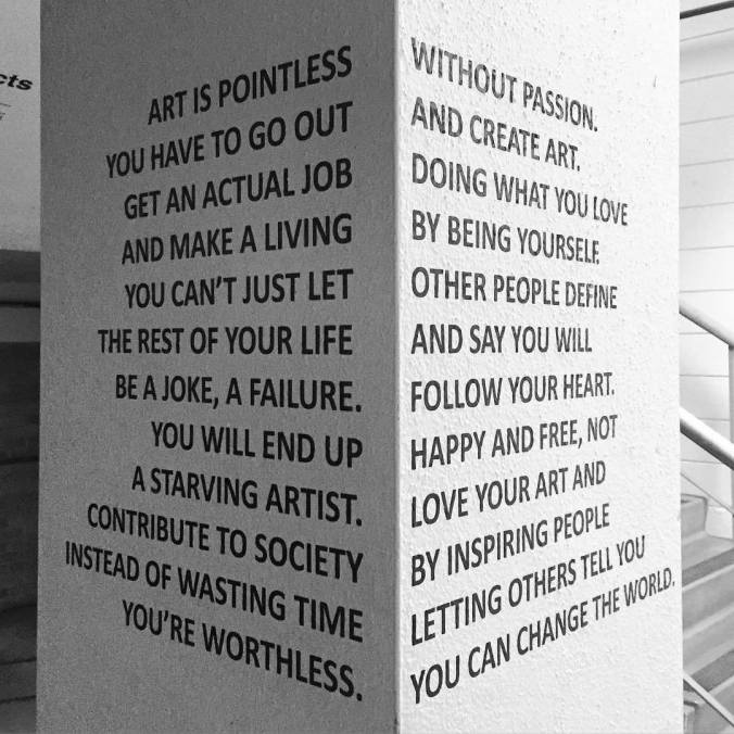 TWO OPINIONS ON ART