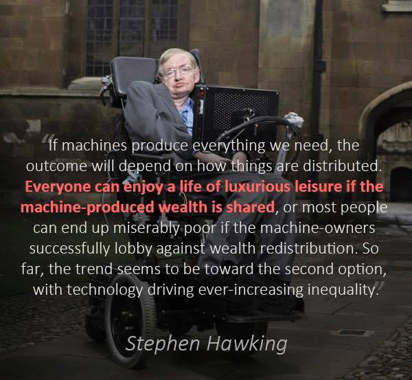 Hawking on wealth